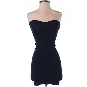 Navy Blue French Connection Strapless Dress sz 0